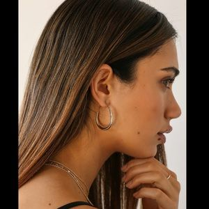 """✨NWT✨Lulu's 14K Gold """"She Went There"""" Hoops"""
